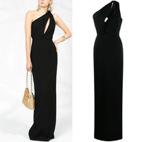 WSL1515 ONE SHOULDER SABLE GOWN