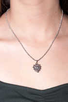★US限定★ Brandy Melville/ SILVER HOLLOW HEART NECKLACE