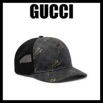 GUCCI【新作】Monogrammed Coated-Canvas And Mesh Baseball Cap