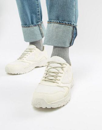 【trainers in off white with chunky sole】 エイソス シューズ・靴 ASOS DESIGN スニーカー メンズ White
