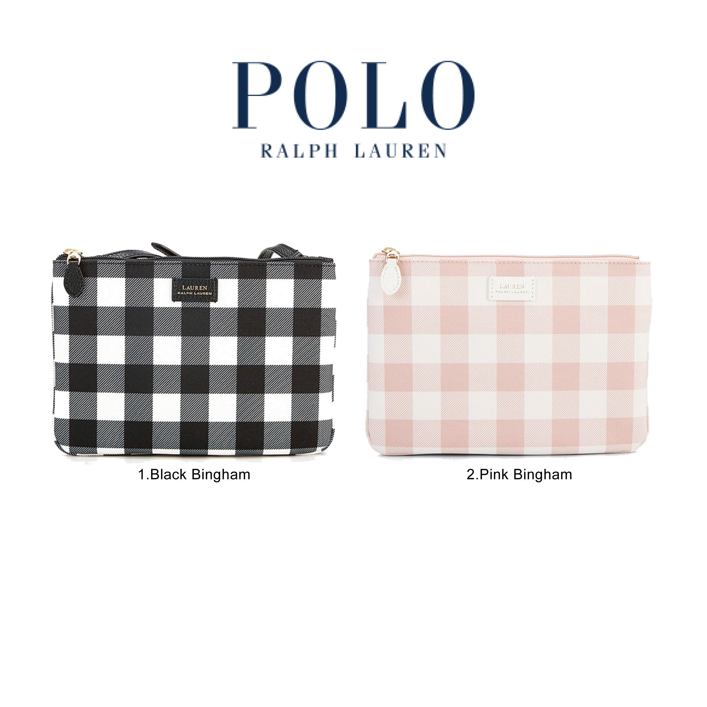 Lauren Ss Shoulder 2019 Bags Polo Ralph Style Gingham Casual m7IYb6vfgy