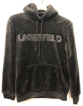 Karl Lagerfeld Paris Double Face Sherpa Logo Hoodie AW19