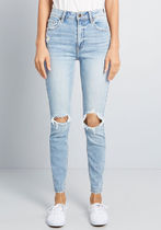 Owned Motivation Distressed Skinny Jeans