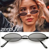 zeroUV(ゼロユーブイ) サングラス 全4色*zeroUV*retro 1990s small oval metal flat lens sunglas