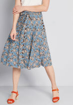 Bring to Life Pleated Skirt