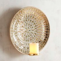 【N0253】Golden Mosaic Candle Wall Sconce キャンドルホルダー