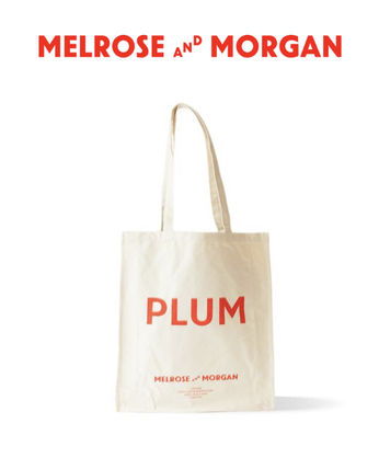 Melrose and Morgan トートバッグ エコバッグ PLUM