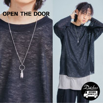 OPEN THE DOOR  leaf o-ring silver necklace NR578 追跡付