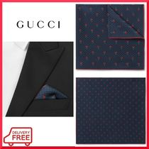 【GUCCI】フラワープリント  ポケットチーフ 関税・送料込