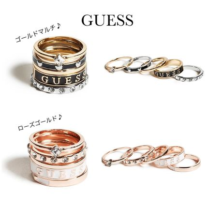 ☆GUESS☆新作♪可愛い☆エナメルロゴリングセット/5個セット☆