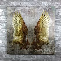 Oliver Gal 超特大 127x127cm My Golden Wings アート