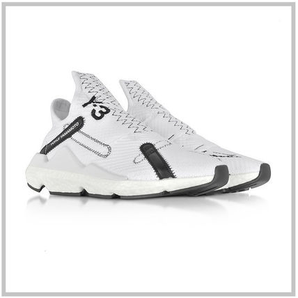 Y-3 ★Reberu White Nylon Sneakers 関税送料込み