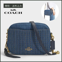 【COACH】 Studded Denim Camera Bag クロスボディバッグ