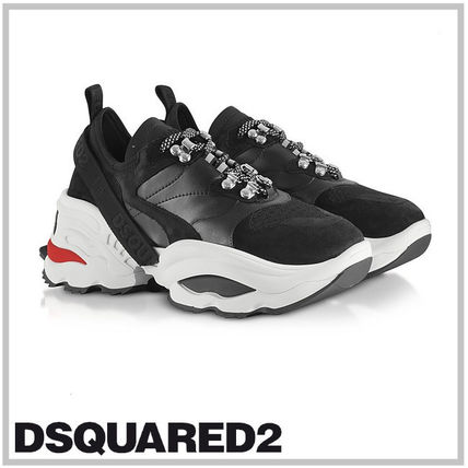 DSQUARED2☆Mesh, Calf Leather and Neoprene Men's Sneakers