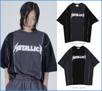 OPEN THE DOOR★韓国人気★UNISEX★metallica 1/2 T(2 color)
