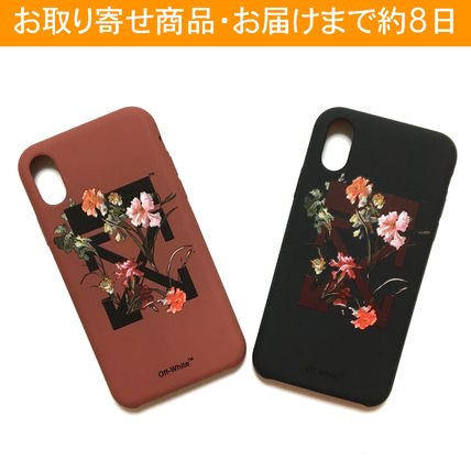 Off-White スマホケース・テックアクセサリー OFF-WHITE FLOWERS iPhone case