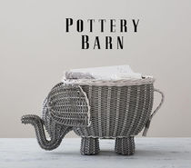 Pottery Barn Elephant Shaped Storage ゾウさんバスケット