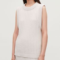 """COS(コス) トップスその他 """"COS"""" RIBBED KNIT SLEEVELESS TOP BEIGE"""