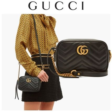 new style d3bac 98e76 【GUCCI】グッチ GG Marmont レザー ショルダーバッグ ミニ!
