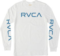 RVCA Big RVCA Long Sleeve T-Shirt White S Tシャツ 送料無料