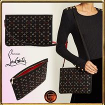 SALE!!Christian Louboutin∞Loubiclutchグリッターjacquard Bag