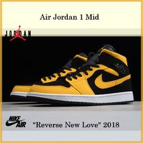 "NIKE Air Jordan 1 Mid ""Reverse New Love"" 2018 SS 18 送料無料"