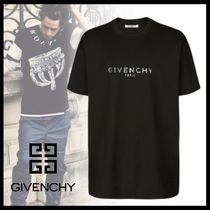 【19AW】GIVENCHY 虹色 PARISプリントブラックジャージーTシャツ