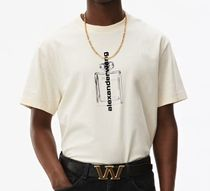 送料 関税込み Alexander Wang short sleeve graphic white