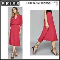 【海外限定】REISS スカート☆CLEONA BOX PLEATED MIDI SKIRT