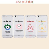 she said that★iPhone Jelly Case/スマホケース《追跡送》