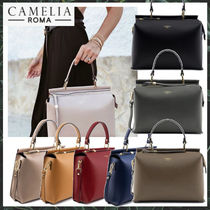 【Camelia roma】秋冬新作☆ Grained Leather handbag