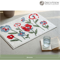 DECO VIEW (デコヴュー) ★Red Flower Soft Foot Mat - 65 X 45