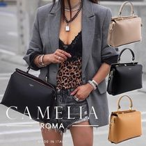 ☆CAMELIA ROMA☆GRAINED LEATHER HANDBAG☆関税・送料込み☆