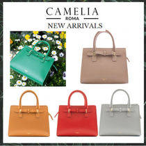【Camelia roma】秋冬新作☆Saffiano Leather Handbag