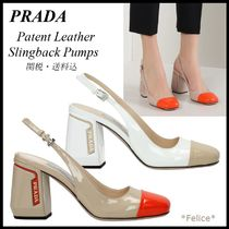 *PRADA*Patent Leather Slingback Pumps 関税/送料込