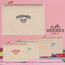 【HERMES】ラージ ポーチ Trousse New Yachting, grand modele