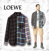 【LOEWE】AW19 Eln Patchwork Check Overshirt Multicolor