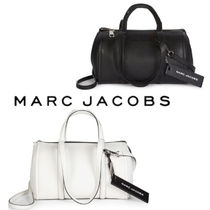 MARC JACOBS☆Tag Coated Leather Duffle Bag