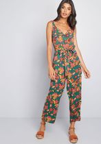 Expressive Aesthetic Cropped Jumpsuit
