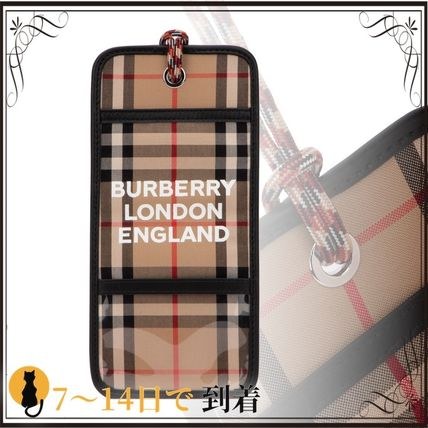 Burberry スマホケース・テックアクセサリー 関税込◆Embroidered cotton phone case