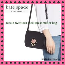 新生*Kate Spade*nicola twistlock medium shoulder bag