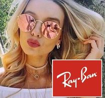 セレブ愛用★Ray-Ban★ ROUND FLASH LENSES  RB3447 112/Z2