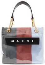 ★関税負担★MARNI★GRIP SMALL STRIPED CANVAS AND PVC TOTE
