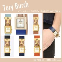 国内発送★Tory Burch★ SURREY LEATHER WATCH 4タイプ