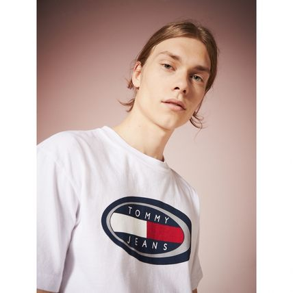 Tommy Hilfiger Tシャツ・カットソー TOMMY JEANS オーバルロゴTシャツ 関税なし 国内買付 すぐ届く(4)