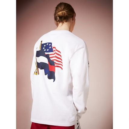 Tommy Hilfiger Tシャツ・カットソー TOMMY JEANS フラッグロングスリーブTシャツ 国内買付 すぐ届く(3)