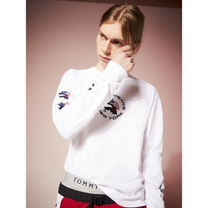 Tommy Hilfiger Tシャツ・カットソー TOMMY JEANS フラッグロングスリーブTシャツ 国内買付 すぐ届く(5)
