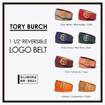 "TORY BURCH*1 1/2"" REVERSIBLE LOGO BELT リバーシブルベルト"