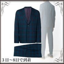 関税込◆two-piece tartan print suit
