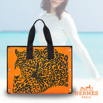 HERMES直営店★Strandtasche Cheetah ★チーター ビーチバッグ